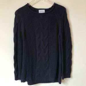 Olive+Oak Navy Blue Cable Knit Sweater